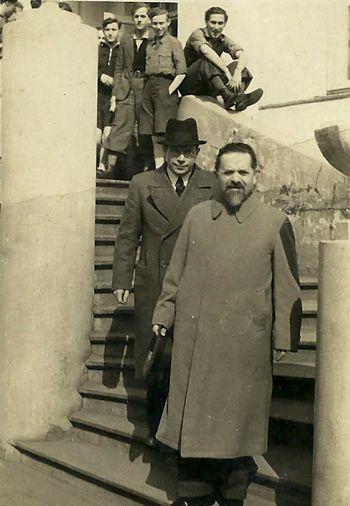 יצחק גרינבאום היגיע לצ'ורטקוב להרצות בפני מדריכים