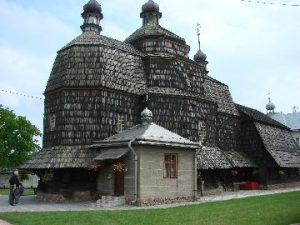 כנסיה מעץ ברחוב קוליובה Chortkow