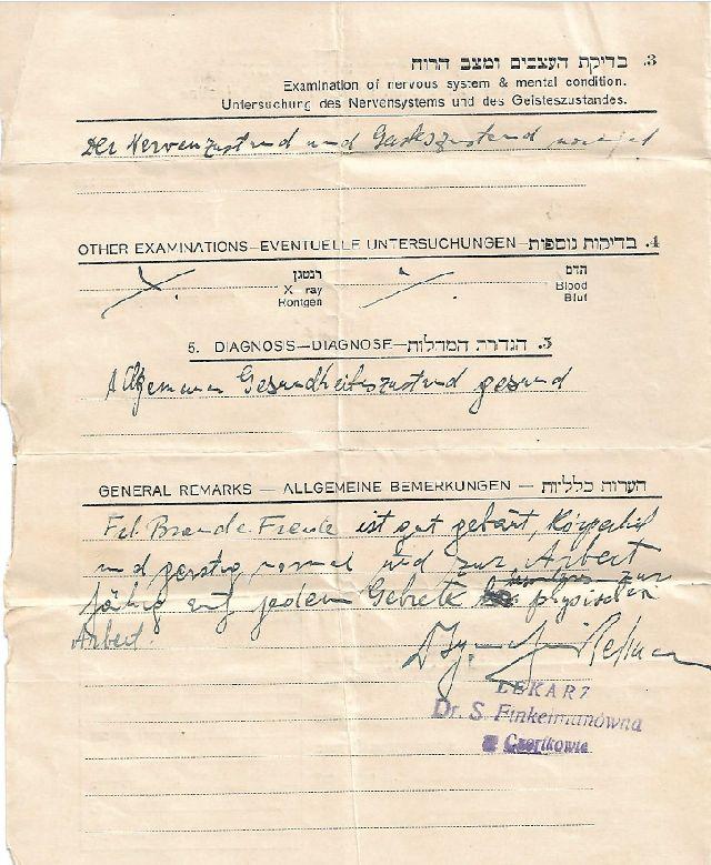 כרטיס בריאות פריידה ברנדה עמוד 3