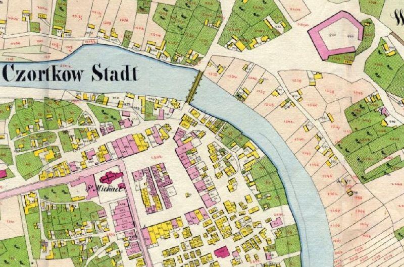 מפה קדסטרל צ'ורטקוב 1859 1861