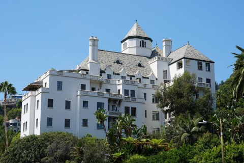Chateau Marmont hotel located at 8221 Sunset Boulevard, West Hollywood, CA