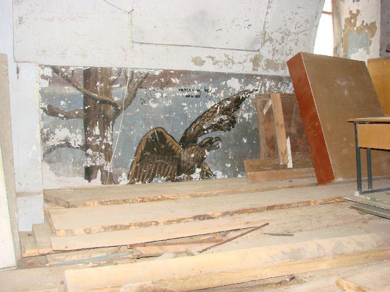 ציור קיר בבית הכנסת הגדול בצ'ורטקוב