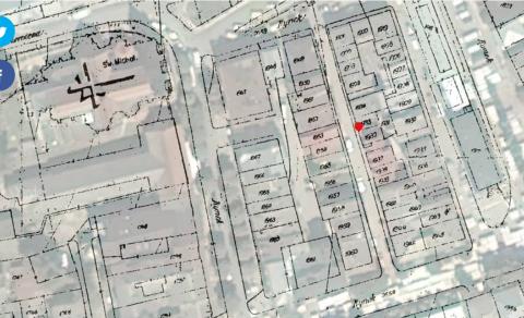 מפה עירונית ומספרי בתים. בית 1939 הוא הבית המדובר