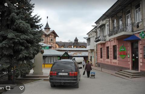 רחוב בו נחשף מחבוא מרתף בצ'ורטקוב 2019 Czortkow CHORTKIV